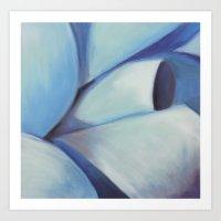 Blue Ribbon - Pastel Ill… Art Print
