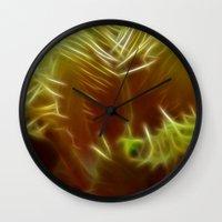 Orange Tulip Wall Clock