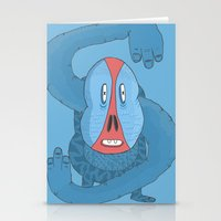 The S Baboon  Stationery Cards