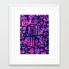 Tapa Tribal Purple Framed Art Print