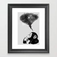 Chimpistotle Framed Art Print