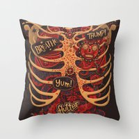 Anatomical Study - Day of the Dead Style Throw Pillow