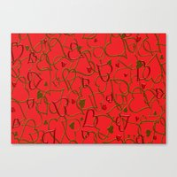 Herz Muster Canvas Print