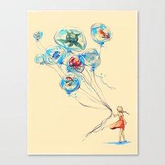 Water Balloons Canvas Print