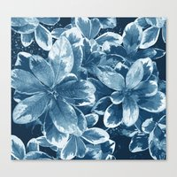 My blue leaves Canvas Print