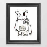 Robo Bear Framed Art Print