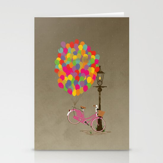 Love to Ride my Bike with Balloons even if it's not practical. Stationery Card