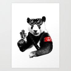 Panda Rebel Art Print