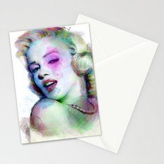 Marilyn under brushes effects Stationery Cards