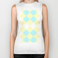 Checkers Yellow/Blue Biker Tank