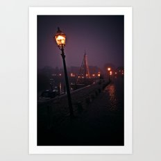 At the Docks Art Print