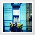 Blue Window Art Print