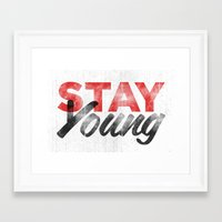 Stay Young Framed Art Print