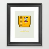 Legend Of Zelda Cartridg… Framed Art Print