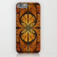 iPhone & iPod Case featuring Glowing Feathers Fractal Art by Liz Molnar