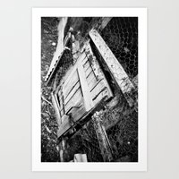 Wooden Door Art Print