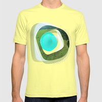 The Abstract Dream 3 Mens Fitted Tee Lemon SMALL
