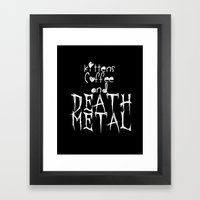 KITTENS COFFEE DEATH MET… Framed Art Print