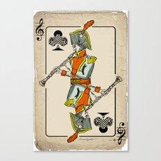 musical poker / Baroque oboe Canvas Print