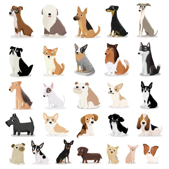 Dog Overload - Cute Dog Series Art Print
