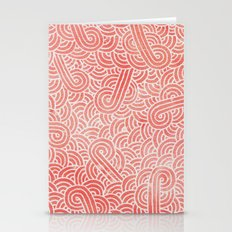 Peach Echo And White Zen… Stationery Cards
