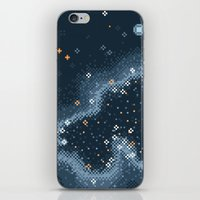 Grey Rift Galaxy (8bit) iPhone & iPod Skin