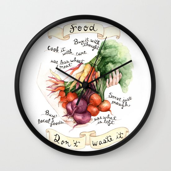 Food Poster Wall Clock