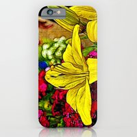 Fractal Yellow Lily iPhone 6 Slim Case