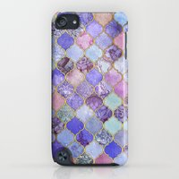 iPod Touch Cases featuring Royal Purple, Mauve & Indigo Decorative Moroccan Tile Pattern by micklyn