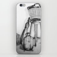 hand drawing objects iPhone & iPod Skin