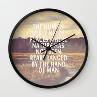 The Human Spirit Wall Clock