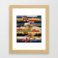 Glitch Pin-Up Redux: Jes… Framed Art Print