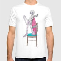 Circus Skeleton Mens Fitted Tee White SMALL