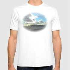 Perfect Beach Day White SMALL Mens Fitted Tee