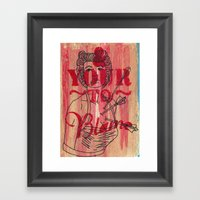 Shot Through The Heart..… Framed Art Print