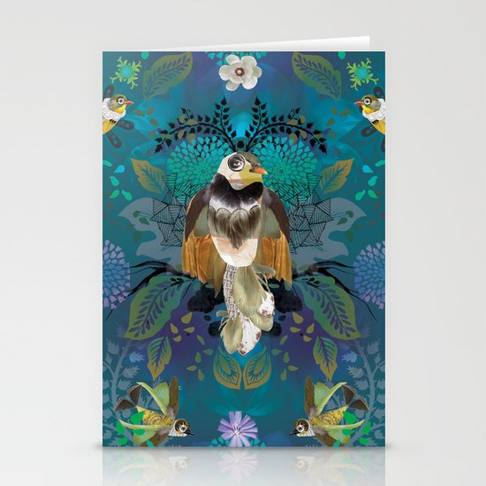 Blissful Birds Stationery Card