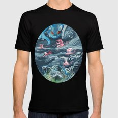 Water Gods SMALL Black Mens Fitted Tee