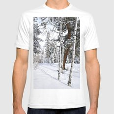 Colorado Scene White Mens Fitted Tee SMALL