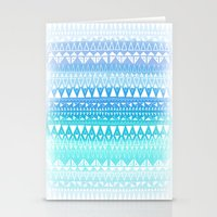 Triangle Gradient Aqua Mix Stationery Cards