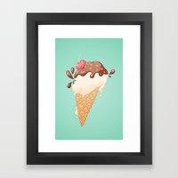 Summer Icecream Framed Art Print