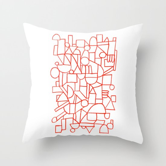 Rad lines Throw Pillow