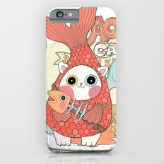 Aqua cat_ Rappa iPhone 6 Slim Case