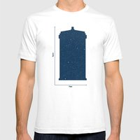 Tardis, Space and Time Mens Fitted Tee White SMALL