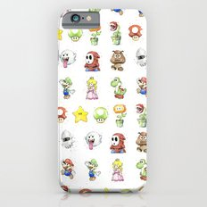 Mario Characters Watercolor  iPhone 6 Slim Case