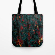 Night city glow cartoon Tote Bag