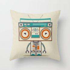 Music robot Throw Pillow