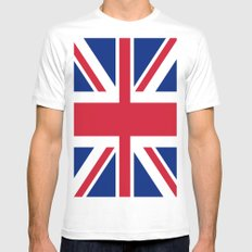 Flag of UK SMALL White Mens Fitted Tee