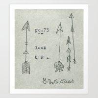 no.73 - look up Art Print