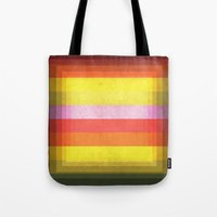 Warm Color Stripes Tote Bag