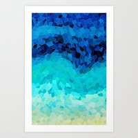 sea Art Prints featuring INVITE TO BLUE by Catspaws
